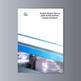 Abstrakcjonistyczny ulotka projekta tło broszurka szablon Obraz Royalty Free