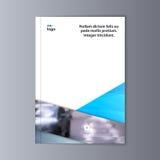Abstrakcjonistyczny ulotka projekta tło broszurka szablon Zdjęcie Stock
