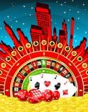 Abstrakcjonistyczny uprawia hazard miasto Ilustracja Wektor