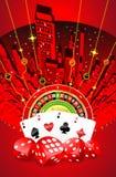 Abstrakcjonistyczny uprawia hazard projekt Ilustracja Wektor
