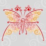 Abstrakcjonistyczny �url motyl Zdjęcie Royalty Free