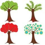 abstrakcjonistyczny ustalony drzewo Zdjęcia Royalty Free