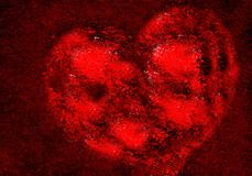 Abstrakcjonistyczny valentine serce z textured tłem obrazy royalty free
