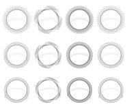 Abstrakcjonistyczny vortex, ślimakowaci elementy Geometryczny kółkowy illustrat royalty ilustracja