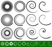Abstrakcjonistyczny vortex, ślimakowaci elementy Geometryczny kółkowy illustrat ilustracji