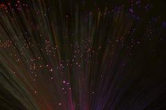 Abstrakcjonistyczny włókno zaświeca bokeh tło Zdjęcia Stock