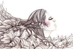 abstrakcjonistyczny włosy Obrazy Royalty Free