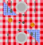 Abstrakcjonistyczny w kratkę obiadowy położenie Obraz Royalty Free