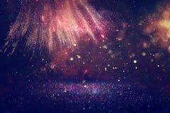 Abstrakcjonistyczny wakacyjny fajerwerku tło Obrazy Royalty Free