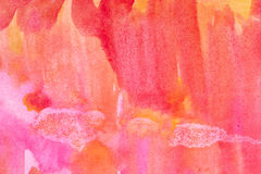 Abstrakcjonistyczny watercolour malujący tło Fotografia Stock