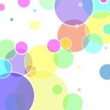 Abstrakcjonistyczny wektor z kolorowymi bąbli elementami Obrazy Royalty Free