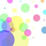 Abstrakcjonistyczny wektor z kolorowymi bąbli elementami Zdjęcia Royalty Free