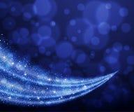 Abstrakcjonistyczny wektorowy błękitny pył błyskotliwości gwiazdy fala tło royalty ilustracja