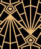Abstrakcjonistyczny wektorowy bezszwowy art deco wzór z stylizowaną skorupą Zdjęcie Royalty Free