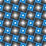 Abstrakcjonistyczny wektorowy bezszwowy geometrical wzór Błękit ramy z popielatymi cień płytkami zdjęcia royalty free