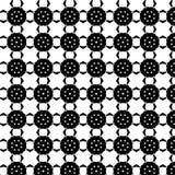 Abstrakcjonistyczny Wektorowy Bezszwowy geometryczny deseniowy Czarny i biały Fotografia Royalty Free
