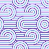 Abstrakcjonistyczny wektorowy bezszwowy op sztuki wzór Kolorowa wystrzał sztuka, graficzny ornament Okulistyczny złudzenie 70s ilustracja wektor