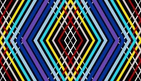 Abstrakcjonistyczny wektorowy bezszwowy op sztuki wzór Kolorowy dyskoteka ornament royalty ilustracja