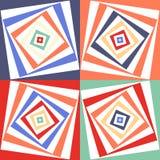 Abstrakcjonistyczny wektorowy bezszwowy op sztuki wzór Koloru wystrzału sztuka, graficzny ornament złudzenie optyczne ilustracja wektor