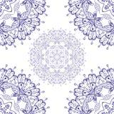 Abstrakcjonistyczny wektorowy bezszwowy ornamentacyjny round mandala odizolowywający Obraz Royalty Free
