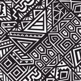 Abstrakcjonistyczny Wektorowy Bezszwowy wzór w Etnicznym stylu ilustracji