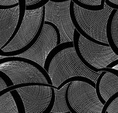 Abstrakcjonistyczny wektorowy bezszwowy wzór z fryzowanie siatką i liniami royalty ilustracja