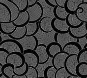 Abstrakcjonistyczny wektorowy bezszwowy wzór z fryzowanie siatką i liniami Obrazy Stock