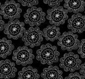 Abstrakcjonistyczny wektorowy bezszwowy wzór z ornamentacyjnymi kwiatami Niekończący się kwiecista tekstura royalty ilustracja