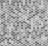 Abstrakcjonistyczny wektorowy bezszwowy wzór z rybimi skalami Gad, wąż, jaszczurka, syrenka ogon, smok skóry tekstura Natral szar ilustracji