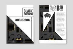 Abstrakcjonistyczny wektorowy Black Friday układu tło Dla kreatywnie sztuka projekta, lista, strona, mockup tematu styl, sztandar Zdjęcia Royalty Free