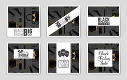 Abstrakcjonistyczny wektorowy Black Friday układu tło Dla kreatywnie sztuka projekta, lista, strona, mockup tematu styl, sztandar Zdjęcie Royalty Free