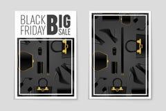 Abstrakcjonistyczny wektorowy Black Friday układu tło Dla kreatywnie sztuka projekta, lista, strona, mockup tematu styl, sztandar Fotografia Royalty Free