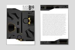 Abstrakcjonistyczny wektorowy Black Friday układu tło Dla kreatywnie sztuka projekta, lista, strona, mockup tematu styl, sztandar Zdjęcie Stock