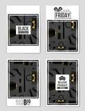 Abstrakcjonistyczny wektorowy Black Friday układu tło Dla kreatywnie sztuka projekta, lista, strona, mockup tematu styl, sztandar Zdjęcia Stock