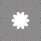 Abstrakcjonistyczny wektorowy czarny i biały pasiasty tło złudzenie optyczne Zdjęcia Royalty Free