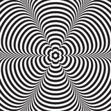 Abstrakcjonistyczny wektorowy czarny i biały pasiasty tło złudzenie optyczne Zdjęcie Stock