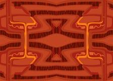 Abstrakcjonistyczny wektorowy dekoracyjny tło futurystyczny środowisko czerwony kolor obraz stock
