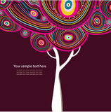 Abstrakcjonistyczny wektorowy drzewo Zdjęcia Royalty Free
