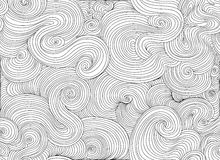 Abstrakcjonistyczny wektorowy falisty bezszwowy wzór Niekończący się dekoracyjna tekstura royalty ilustracja