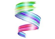 Abstrakcjonistyczny Wektorowy farby muśnięcia uderzenie Kolorowy kędzior ilustracja wektor