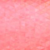 Abstrakcjonistyczny wektorowy geometrical tło - różowi trójboki Zdjęcie Stock