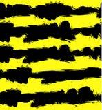 Abstrakcjonistyczny WEKTOROWY grunge tło z czerni i koloru żółtego lampasami bezszwowy wzoru royalty ilustracja