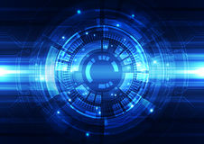 Abstrakcjonistyczny wektorowy inżynierii technologii tło, ilustracja Obraz Stock