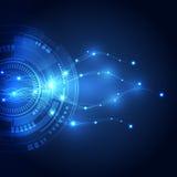 Abstrakcjonistyczny wektorowy internet technologii tło, wektor Obrazy Stock