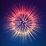 Abstrakcjonistyczny wektorowy kolorowy astronautyczny tło Wybuch sfera z rozjarzonymi cząsteczkami Futurystyczny technologia styl Fotografia Stock