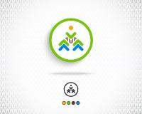 Abstrakcjonistyczny Wektorowy loga projekta szablon Obrazy Royalty Free