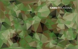 Abstrakcjonistyczny Wektorowy Militarny kamuflażu tło Robić Geometryczni trójboków kształty Obraz Stock