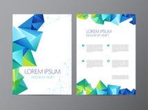 Abstrakcjonistyczny wektorowy nowożytny ulotki broszurki projekt ilustracji