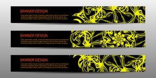 Abstrakcjonistyczny wektorowy nowożytny sztandar z falistych linii sprawozdania rocznego projekta szablonów szablonu przyszłościo Obrazy Royalty Free