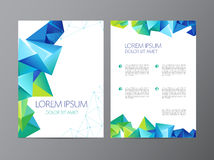 Abstrakcjonistyczny wektorowy nowożytny ulotki broszurki projekt Fotografia Royalty Free